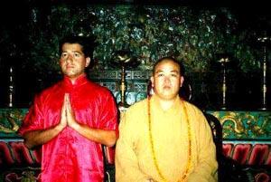 Joost Warsanis met Abt Shi Yong Xin