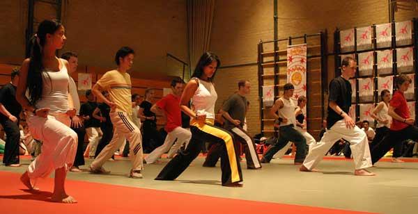 Beginners tijdens een Shaolin workshop